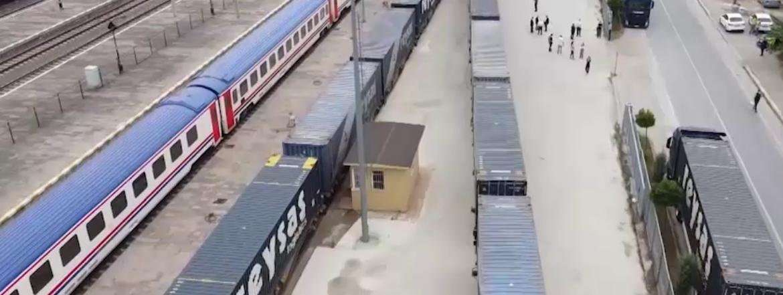 Türkiye's first block export train is on the rails of Marmaray - project of century!